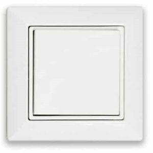 Interrupteur mural carré Casambi 1 touche blanc