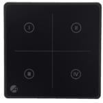 Wall switch glass Black